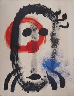 Album 19, Plate 1 (Surrealist Portrait) - Original Lithograph, Handsigned