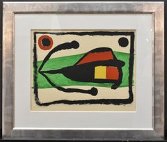 Joan Miro, Altamira, Lithograph in colors, 1958