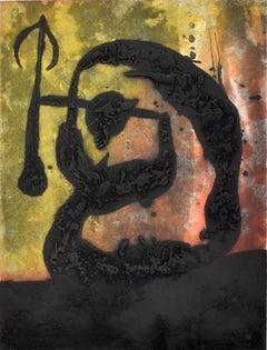 Arrow Head  Tête Flèche - Carborundum  Surrealism Abstract Spanish