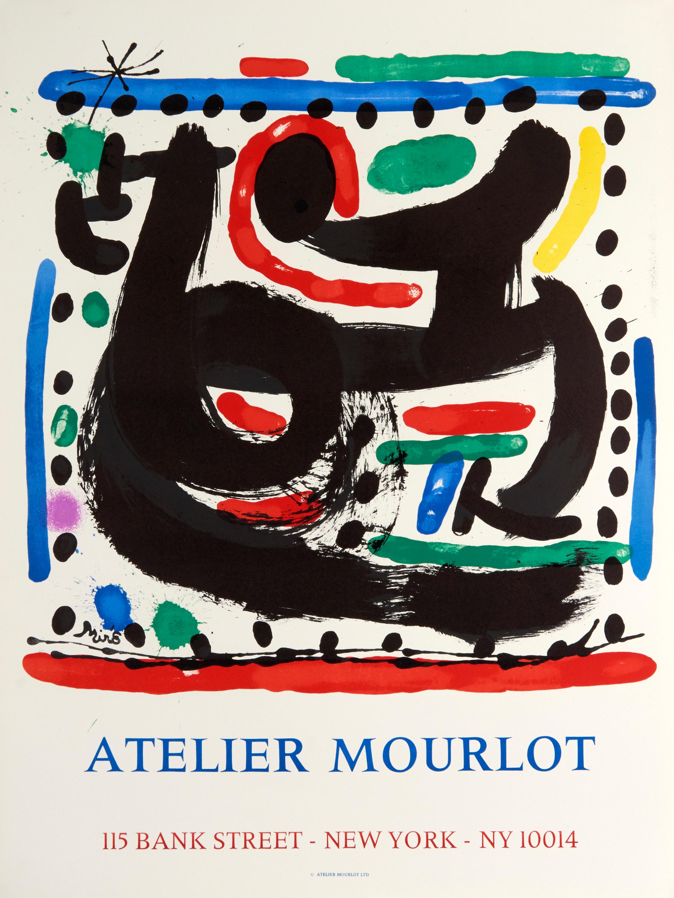 Atelier Mourlot Bank Street by Joan Miro - colorful abstract