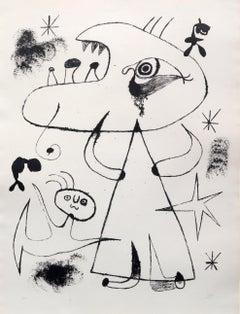 Barcelona: XXV - Joan Miró, Print, Lithograph, Surrealism, Fauvism, Figurative