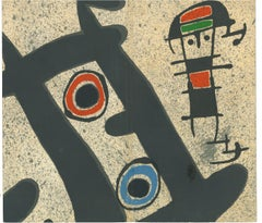 Berggruen Gallery Catalogue Cover - Lithograph by J. Mirò - 1970s