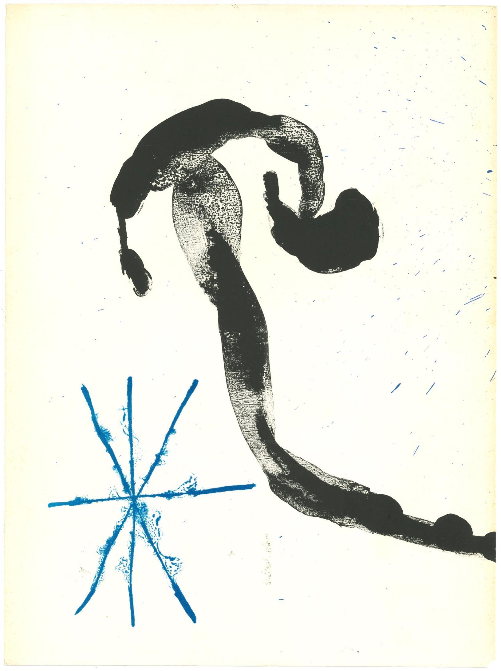 Blue Star - Original Lithograph by Joan Mirò - 1963