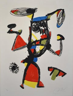 Cheerleader  Majorette - Large Lithograph Surrealism Spanish Abstract