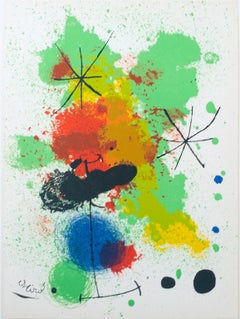 """Composition"" an Original Lithograph signed by Joan Miró"