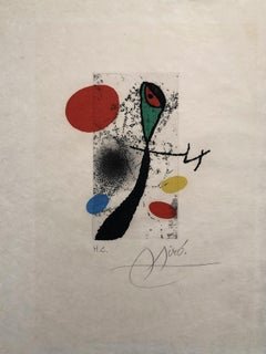 Composition With Circles - Original Etching Handsigned
