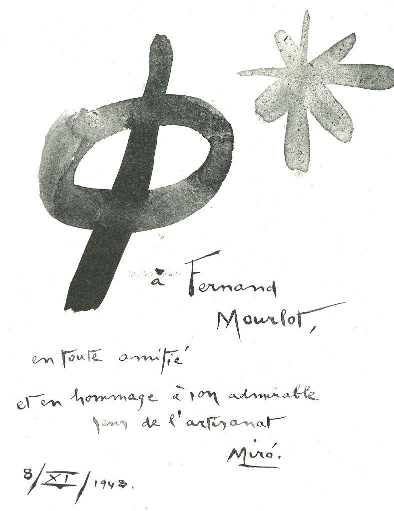 Composition - Original Lithograph after J. Mirò - 1982