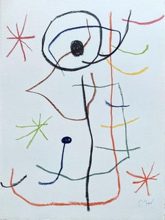 Composition with Three Stars - Lithograph Signed in the Plate - Maeght 1965