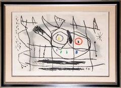Couple D'Oiseaux II, Framed Etching by Joan Miro 1966