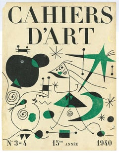 Cover for Cahiers d'Art 1940 - Original Lithograph by Joan Mirò
