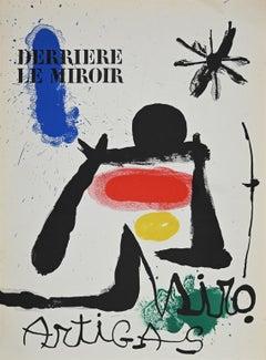 Cover for Derrière le Miroir - Original Lithography by Joan Mirò - 1963