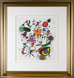 Cover from 'Miró Lithographs III, Maeght Publisher' original print by Joan Miró