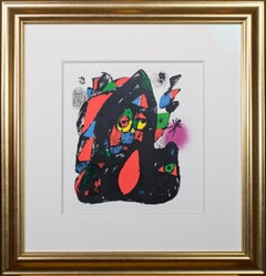 Cover from 'Miró Lithographs IV, Maeght Publisher' original print by Joan Miró