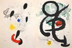 Danse Barbare - Original Lithograph by Joan Mirò - 1963
