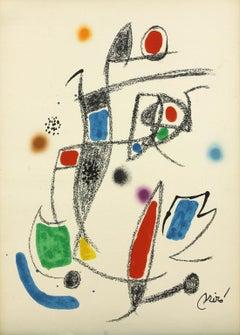 Ediciones Polígrafa Maravillas 10 plate-signed lithograph print by Joan Miró