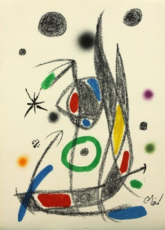 Ediciones Polígrafa Maravillas 14 plate-signed lithograph print by Joan Miró