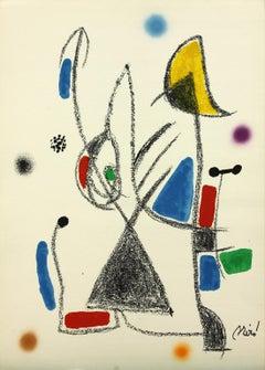 Ediciones Polígrafa Maravillas 16 plate-signed lithograph print by Joan Miró
