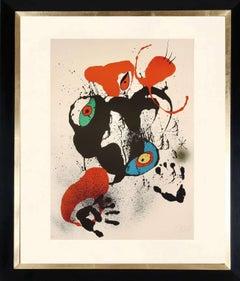 """""""El Fogainer"""", original signed lithograph."""
