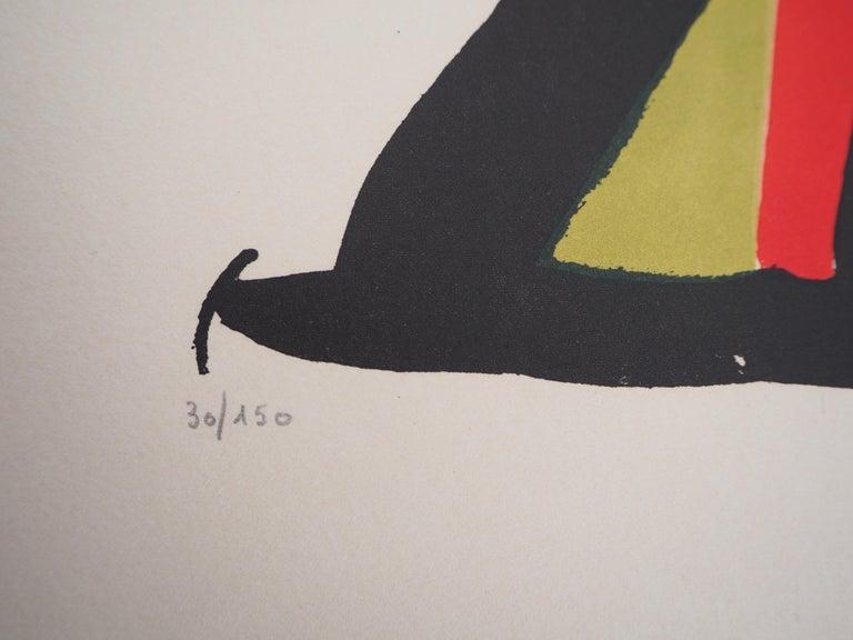 Espana 1982 (Football - Fifa World Cup) - Original lithograph, Handsigned & N° - Abstract Print by Joan Miró