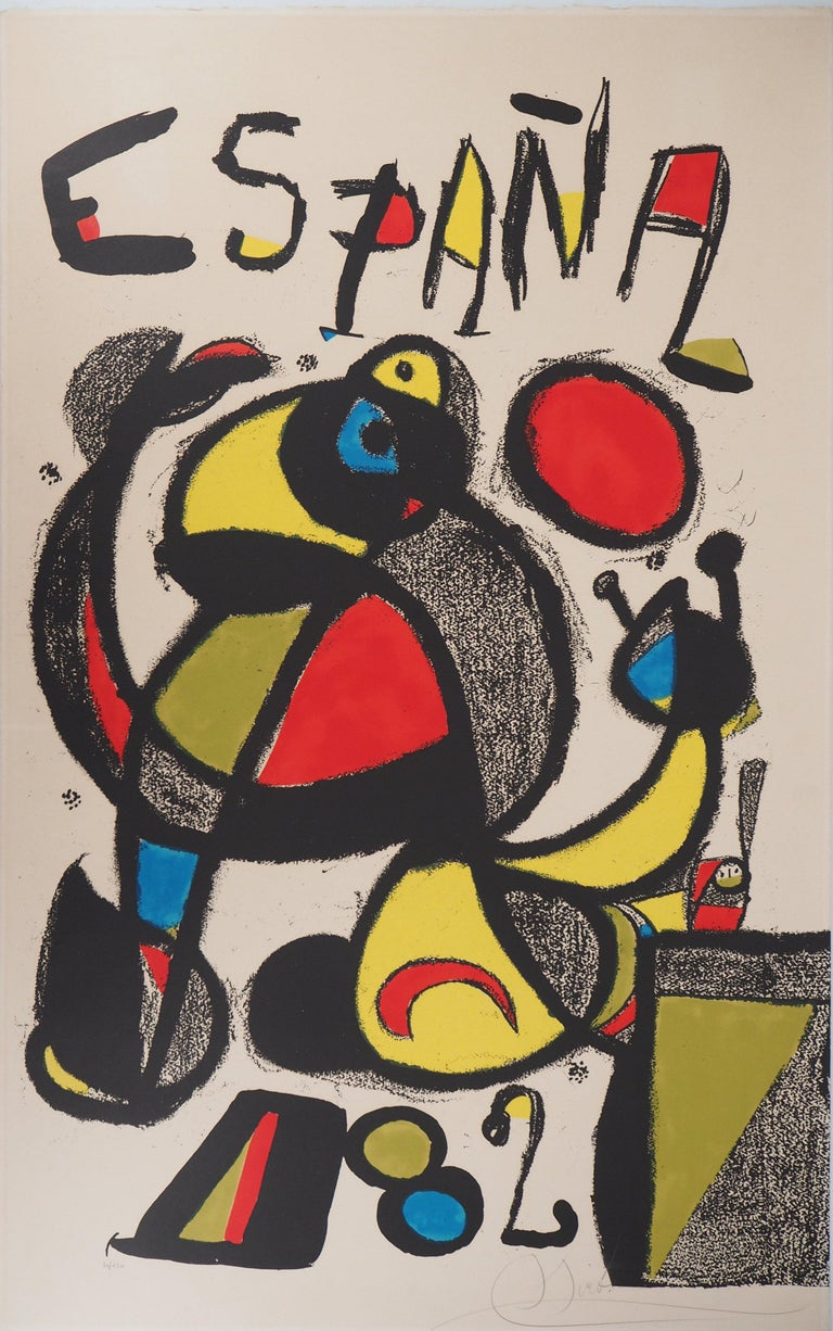 Joan Miró Abstract Print - Espana 1982 (Football - Fifa World Cup) - Original lithograph, Handsigned & N°