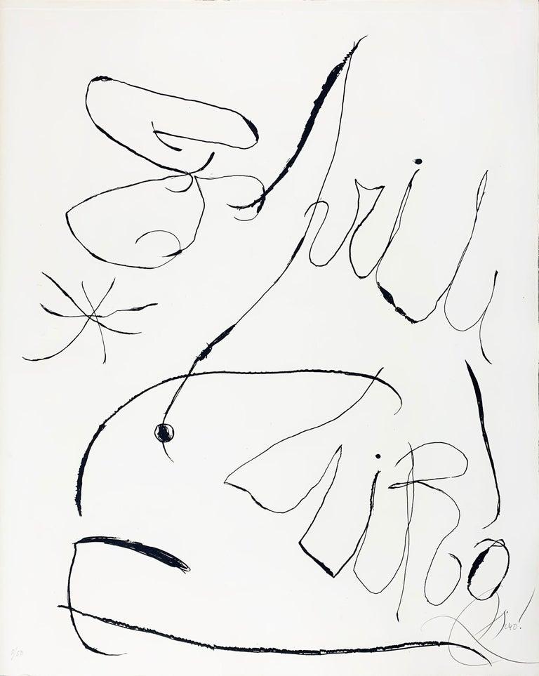 Espriu - Print by Joan Miró