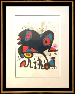 Exhibition Miro, Abstract Lithograph (1974)