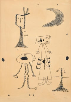 Femmes - Original Lithograph by Joan Mirò - 1948