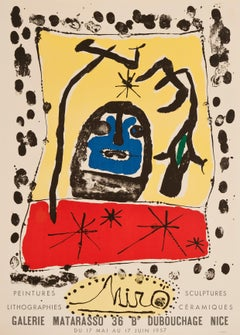 Galerie Matarasso by Joan Miro - Abstract expressionism exhibition poster