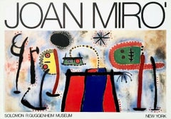 Guggenheim Museum, Vintage 1966 Exhibition Lithograph, Joan Miro