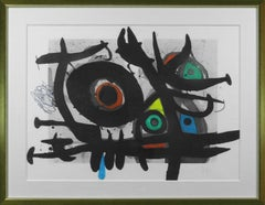 """Hand-signed and numbered Joan Miró """"L'Oiseau Destructeur"""" etching and aquatint"""