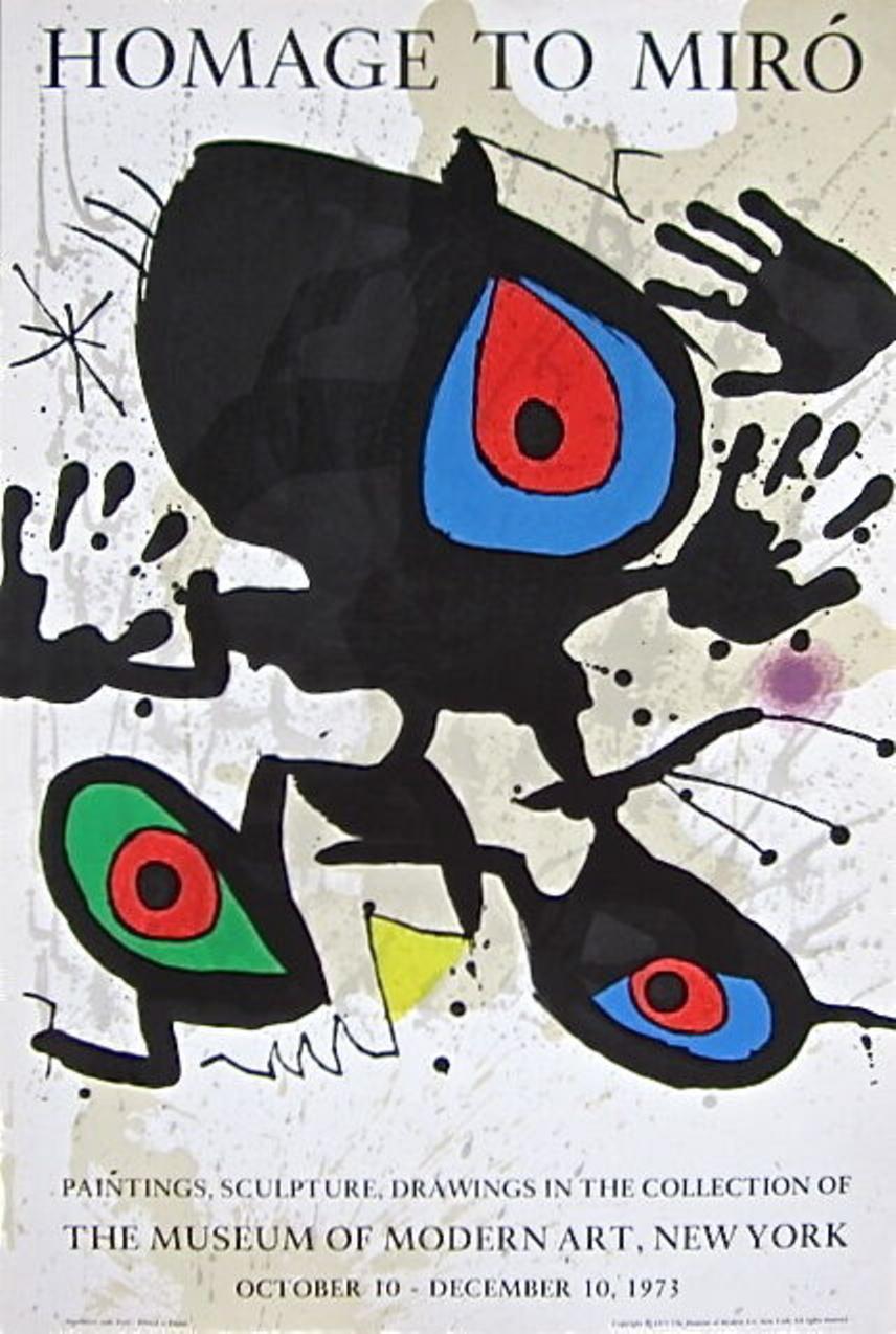 Homage to Miro, 1973 Museum of Modern Art Exhibition Poster, Joan Miro