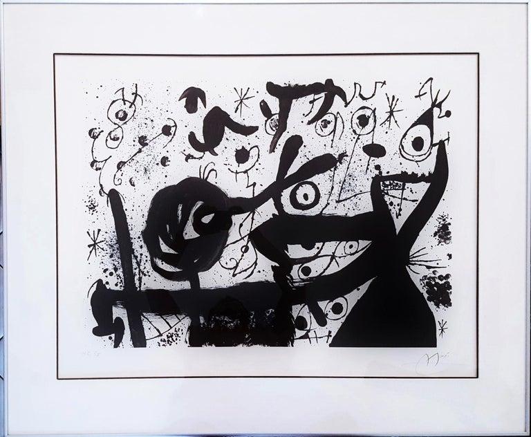 Homentage à Joan Prats (Plate 3) - Print by Joan Miró