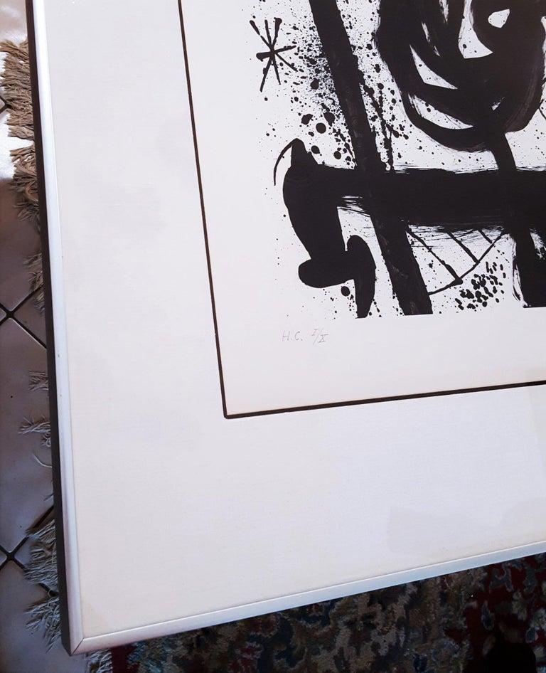 Homentage à Joan Prats (Plate 3) - Surrealist Print by Joan Miró