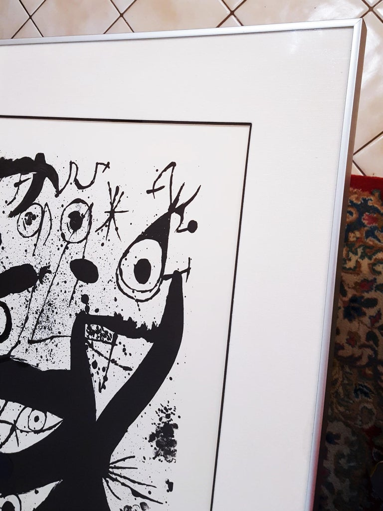 An original signed lithograph on Guarro wove paper by Spanish artist Joan Miró (1893-1983) titled