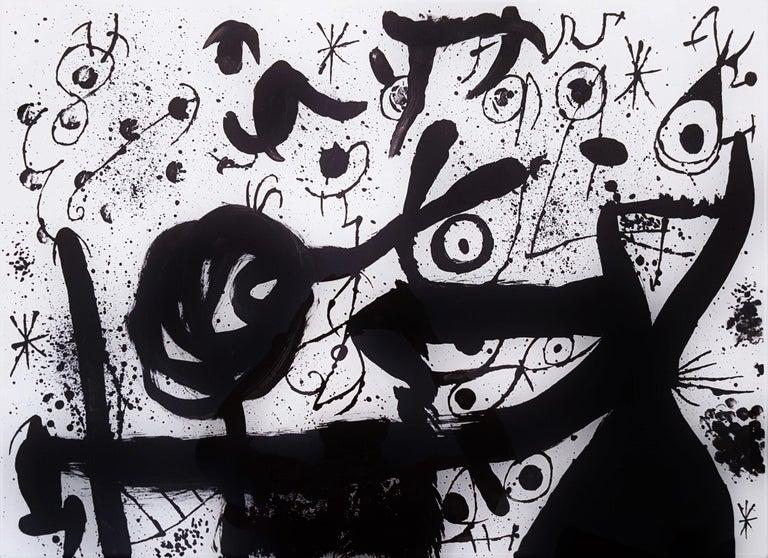 Joan Miró Abstract Print - Homentage à Joan Prats (Plate 3)