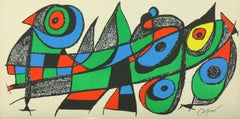 """""""Japan"""" lithograph from """"Escultor"""" suite by Joan Miró from Poligrafa"""