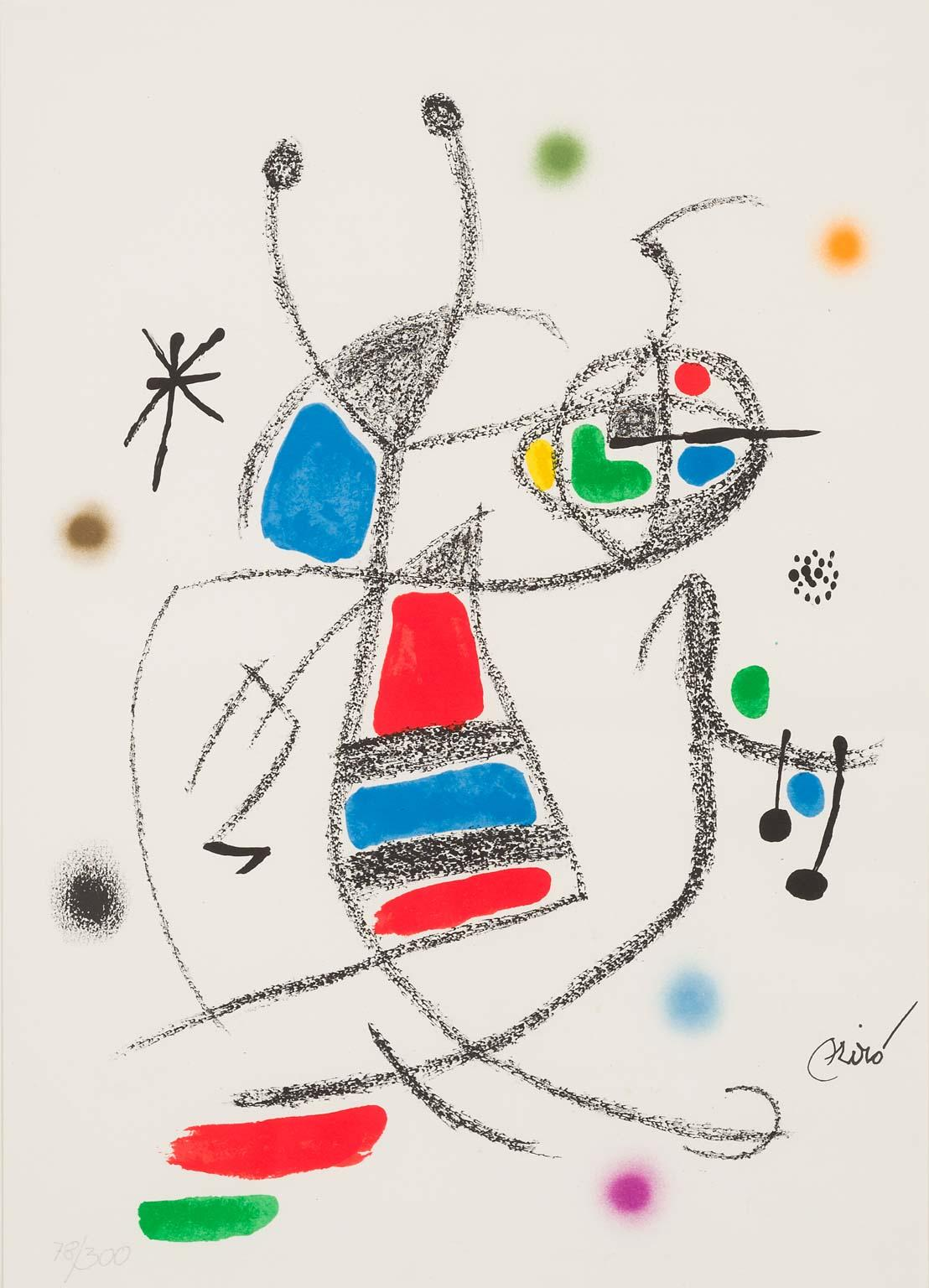 Jardin de Miró - original modern lithograph from Miró magical realism