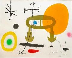 Je n'ai jamais appris à écrire ou les incipit - Etching by Joan Mirò - 1969