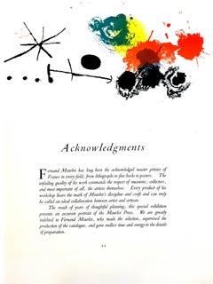 Joan Miro - Abstract Composition - Original Lithograph