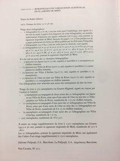 """JOAN MIRO - LITHOGRAPHY - """"MARAVILLAS ACROSTICAS EN EL JARDIN DE MIRO"""""""