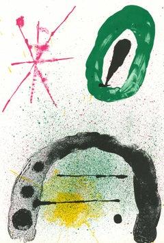 Joan Miró Lithograph Derriere le Miroir (Miró 1960s)