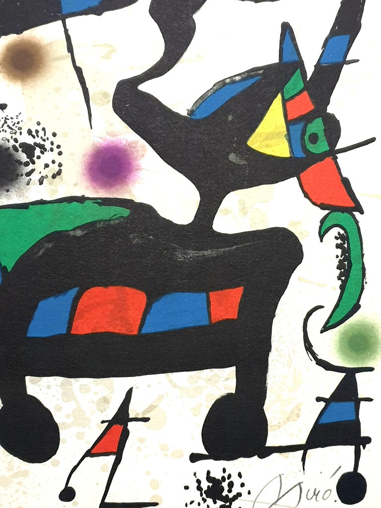 "Joan Miro - ""Plate I"" from ""Oda à Joan Miró"" - Lithograph - Print by Joan Miró"