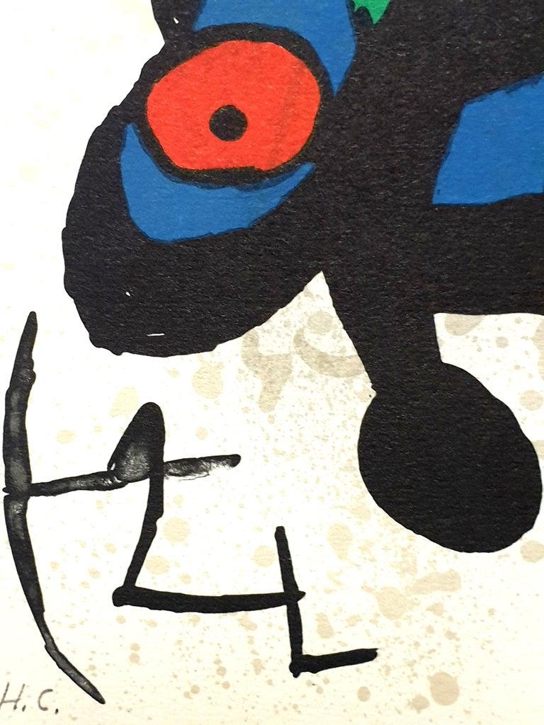 "Joan Miro - ""Plate I"" from ""Oda à Joan Miró"" - Lithograph - Abstract Print by Joan Miró"