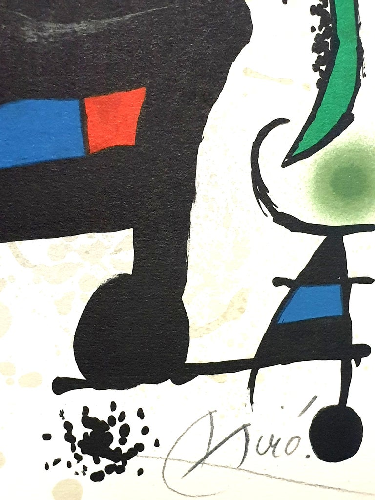 "Joan Miro - ""Plate I"" from ""Oda à Joan Miró"" - Lithograph - Black Print by Joan Miró"