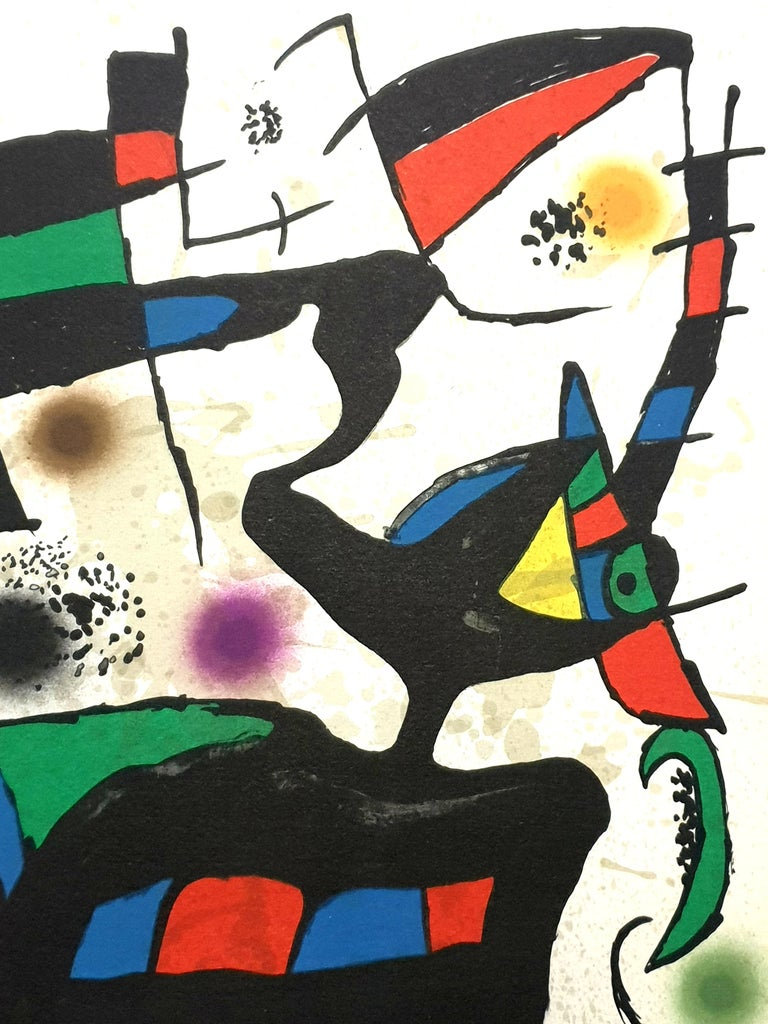 """""""Plate I,"""" from """"Oda à Joan Miró,"""" by Joan Brossa Lithograph in colors, 1973 Signed in pencil and inscribed """"H.C."""" (presumably one of 10; the total edition was 525) Published by La Polígrafa S.A., Barcelona Dimensions: 33.5 x 24.3 cm Reference:"""