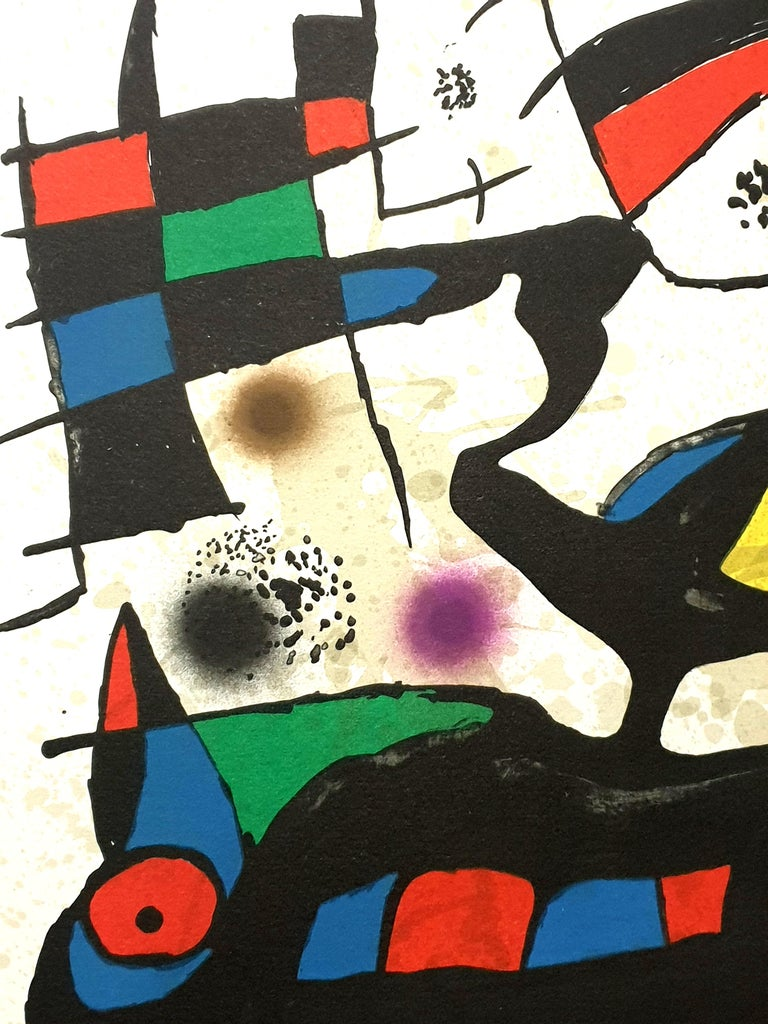 """Joan Miro - """"Plate I"""" from """"Oda à Joan Miró"""" - Lithograph For Sale 1"""