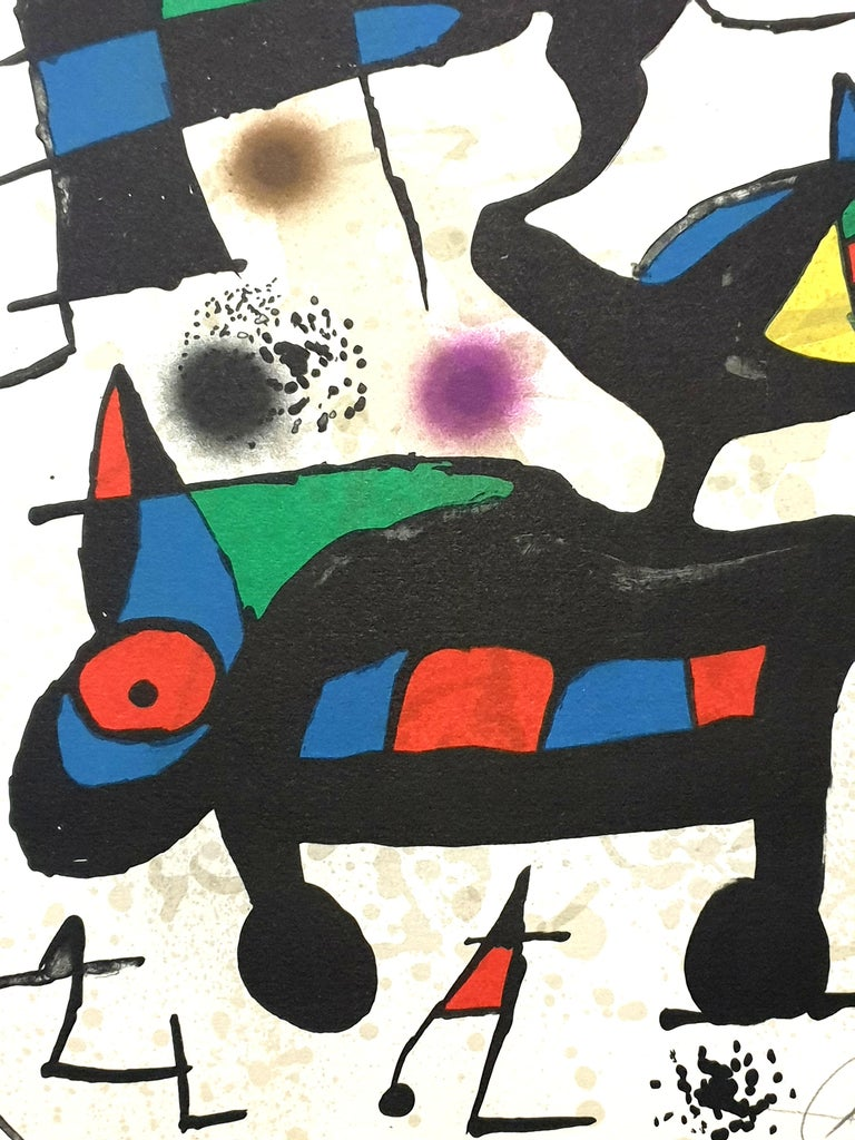 """Joan Miro - """"Plate I"""" from """"Oda à Joan Miró"""" - Lithograph For Sale 2"""