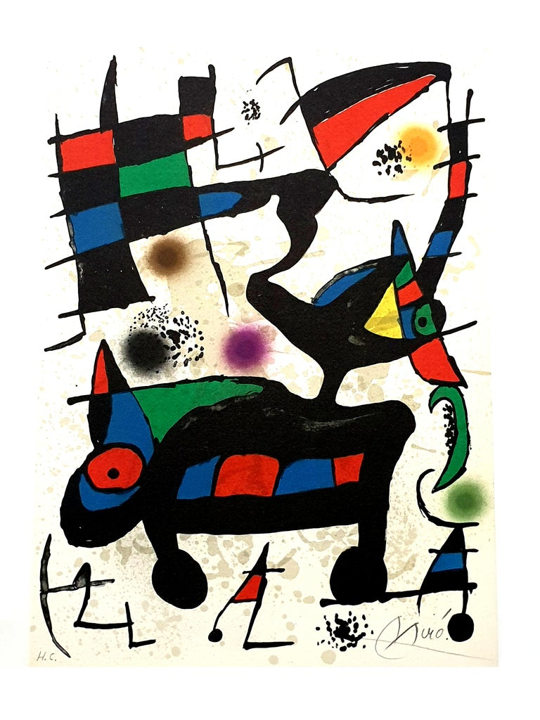 """Joan Miro - """"Plate I"""" from """"Oda à Joan Miró"""" - Lithograph For Sale 3"""