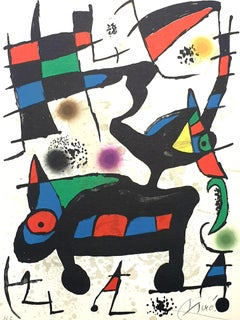 "Joan Miro - ""Plate I"" from ""Oda à Joan Miró"" - Lithograph"