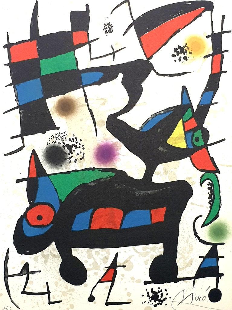 "Joan Miró Print - Joan Miro - ""Plate I"" from ""Oda à Joan Miró"" - Lithograph"
